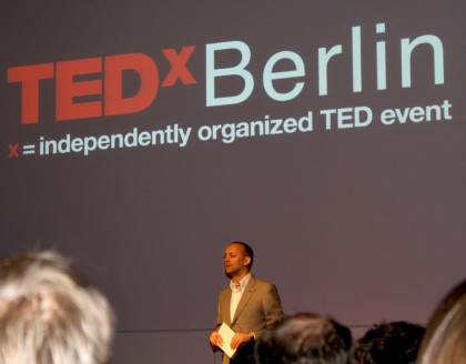 Stephan Balzer moderated TEDx Berlin