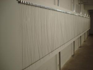 216 prepared dc-motors/filler wire 1.0mm by Zimoun.